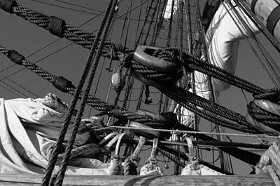 Vintage Chevrolet - Rigging on a tall ship - monochrome by Ulrich Kunst And Bettina Scheidulin