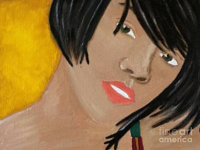 Painting - Rihanna  by Kristen Diefenbach