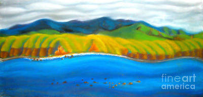 Pastel - Rimutaka Range by Amber Nissen