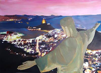 Rio De Janeiro With Christ The Redeemer Original