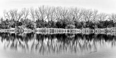Art Print featuring the photograph Rippled Reflection by Bill Kesler