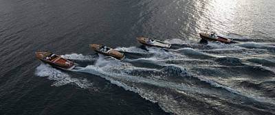 Riva Runabouts Aerial Print by Steven Lapkin