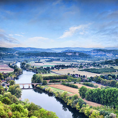Aquitaine Photograph - River Dordogne From Domme Aquitaine France by Colin and Linda McKie