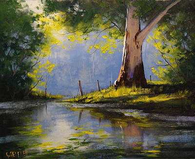Eucalyptus Painting - River Gum by Graham Gercken