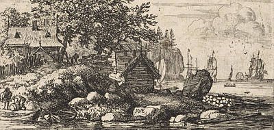 River Landscape With Two Rowboats, Allaert Van Everdingen Art Print