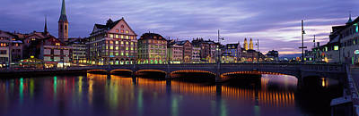 Limmat Photograph - River Limmat Zurich Switzerland by Panoramic Images