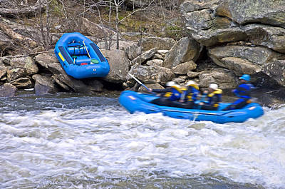 Photograph - River Rafting by Susan Leggett
