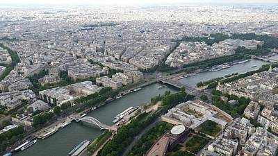Mellow Yellow - River Seine from Eiffel Tower by Luis Moya