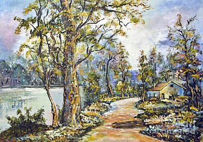 Basin Park Painting - River by Milan Karadzic
