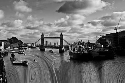 Photograph - River Thames Waterfall by David Pyatt