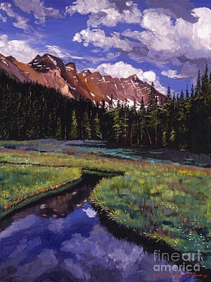 River Valley Art Print by David Lloyd Glover
