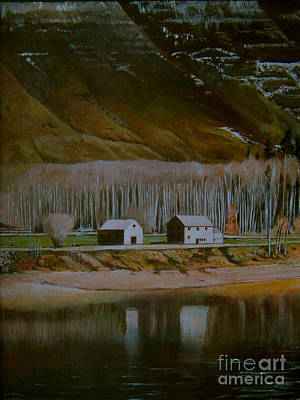 Wall Art - Painting - River-valley by Klaus Grumbach