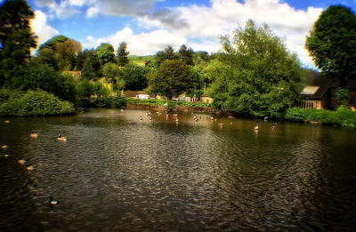 Photograph - River Weir At Bakewell - Peak District - England by Doc Braham