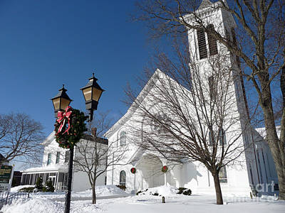 Photograph - Riverhead United Methodist Church After A Blizzard by Steven Spak