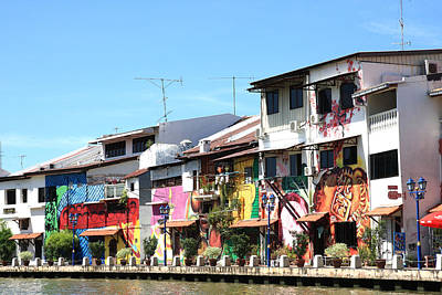 Photograph - Riverside Houses Melaka by Tony Brown