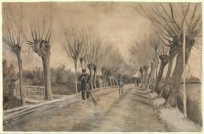 Vincent Van Gogh Drawing - Road In Etten by Vincent van Gogh