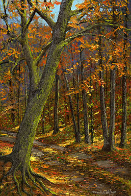 Road In The Woods Art Print by Frank Wilson