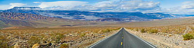 Urban Scenes Photograph - Road Passing Through A Desert, Death by Panoramic Images