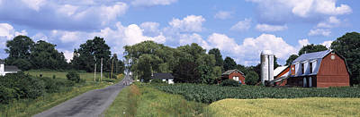 Finger Lakes Photograph - Road Passing Through A Farm, Emmons by Panoramic Images