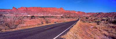Capitol Reef National Park Photograph - Road Passing Through Capitol Reef by Panoramic Images