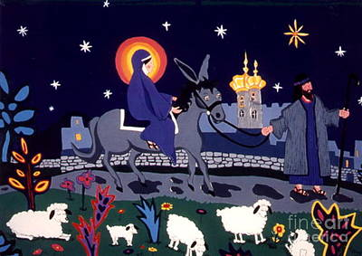 Art Print featuring the painting Road To Bethlehem by Joyce Gebauer