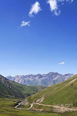 Kyrgyzstan Photograph - Road Winding Through Mountainous Central Kyrgyzstan by Robert Preston
