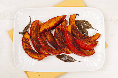 Photograph - Roasted Pumpkin On Plate by Elena Elisseeva
