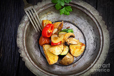 Mythja Photograph - Roasted Vegetables by Mythja  Photography