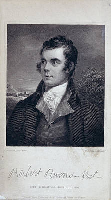 Robert Burns Art Print by British Library
