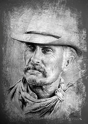 Famous Faces Drawing - Robert Duvall by Andrew Read