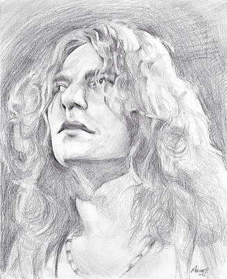 Robert Plant Framed Painting - Robert Plant by Marina Sotiriou