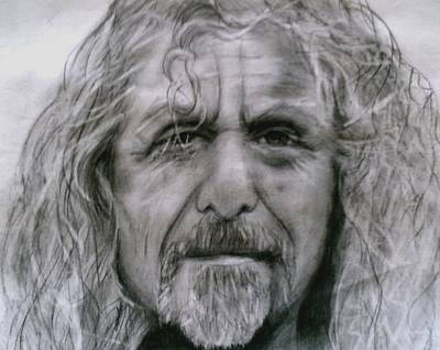 Robert Plant Drawing - Robert Plant by Paula Soesbe