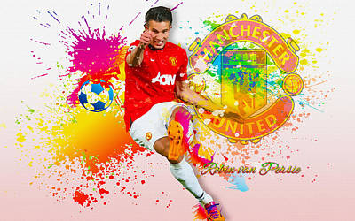 Cristiano Ronaldo Digital Art - Robin Van Persie Of Manchester United  by Don Kuing