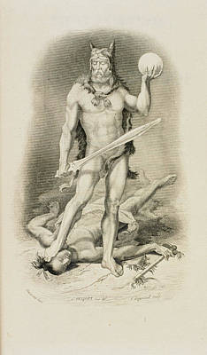 Robinson Crusoe Print by British Library