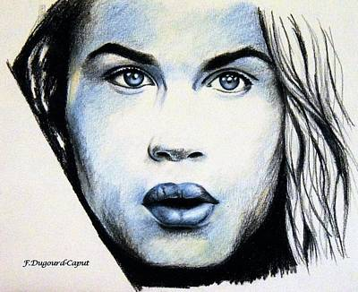 Color Pencil Drawing - Robinson by Francoise Dugourd-Caput