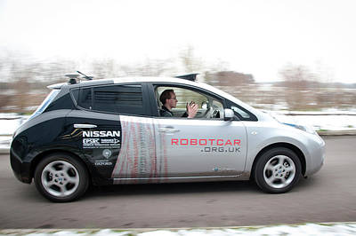 Robotcar Art Print by John Cairns/oxford University Images