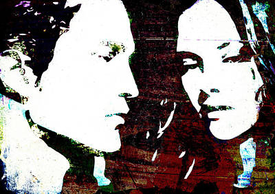 Art Print featuring the mixed media Robsten by Svelby Art