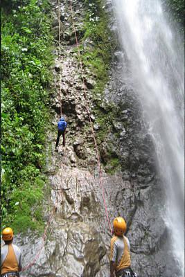 Rock Climbing Rope Climbing Costa Rica Vacations Waterfalls Rivers  Recreation Challanges  Facilitie Art Print