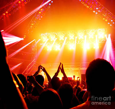 Photograph - Rock Concert by Anna Om