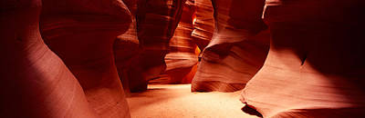 Physical Geography Photograph - Rock Formations, Antelope Canyon, Lake by Panoramic Images