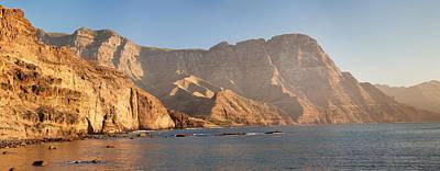 Dio Photograph - Rock Formations At Coast, El Dedo De by Panoramic Images