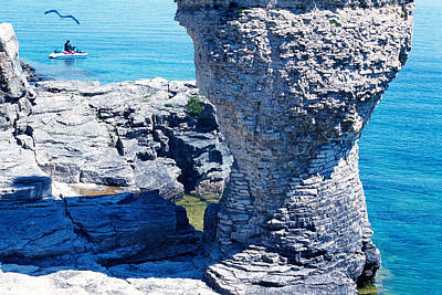 Rock Formations, Bruce Peninsula Art Print by Panoramic Images