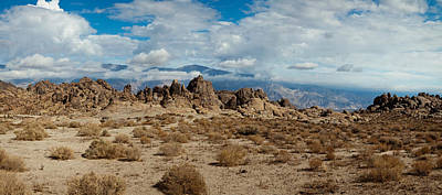 Alabama Hills Photograph - Rock Formations In A Desert, Alabama by Panoramic Images