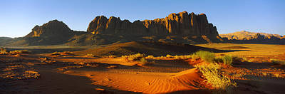 Jordan Photograph - Rock Formations In A Desert, Jebel by Panoramic Images