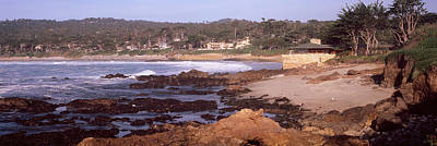 Rock Formations In The Sea, Carmel Art Print by Panoramic Images