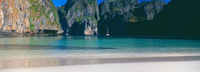 Phuket Photograph - Rock Formations In The Sea, Phi Phi by Panoramic Images