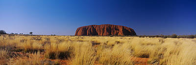 Ayers Rock Photograph - Rock Formations On A Landscape, Ayers by Panoramic Images