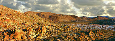 Rock Formations On Landscape Print by Panoramic Images