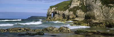 County Antrim Photograph - Rock Formations On The Beach by Panoramic Images