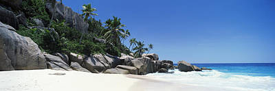 Rock Formations On The Coast, Anse Art Print by Panoramic Images